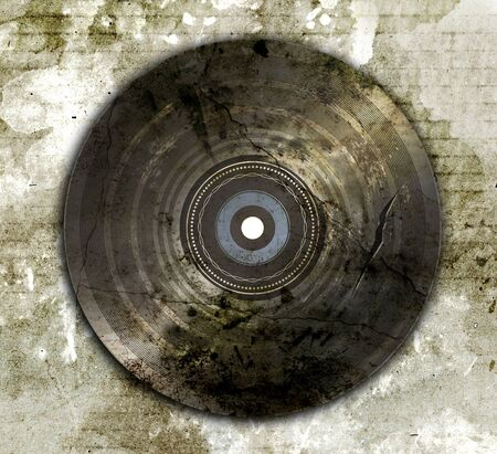wrecked and old vinyl record photo