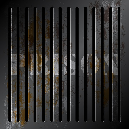 grille: metallic grille of prison Stock Photo