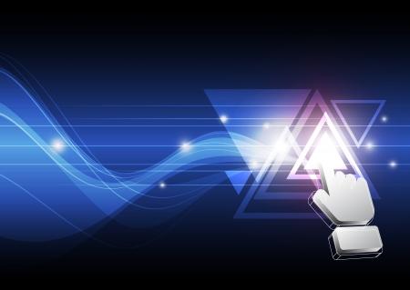 triangle button: bot�n tri�ngulo click cursor Vectores