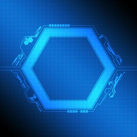 telecoms: polygon frame modern design