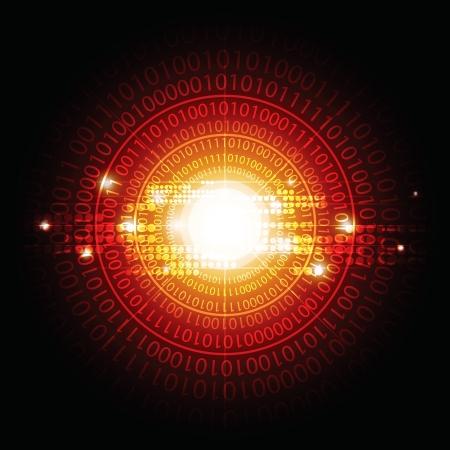 telecoms: circle digital background