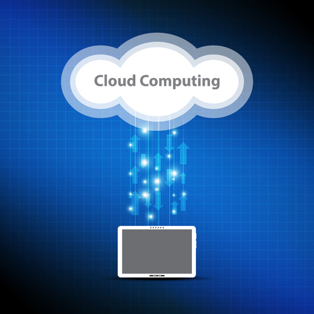 cloud computing concept Stock Vector - 22439549