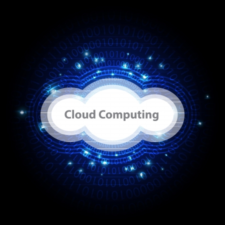 cloud computing technology background Stock Vector - 22439675