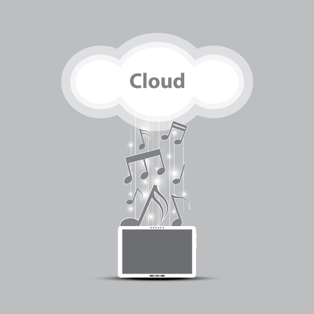 music cloud computing concept Stock Vector - 22439673