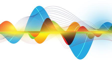 and sound: ola colorido abstracto
