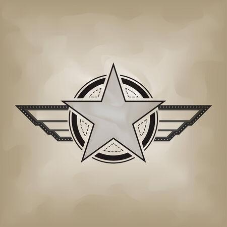 estrellas  de militares: s�mbolo de la estrella en el papel de deformaci�n