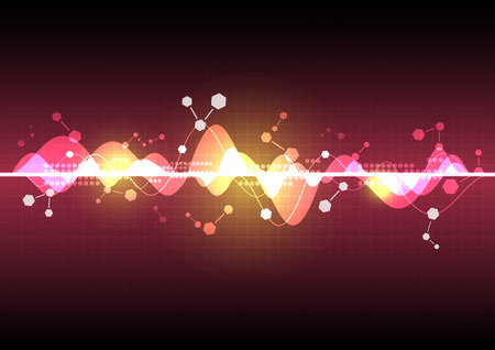 sonic: abstract science element background
