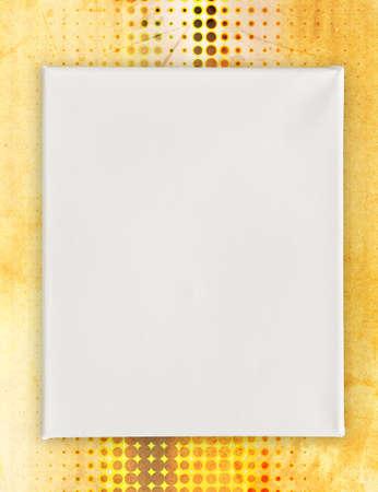 paint tool: blank canvas on art background Stock Photo