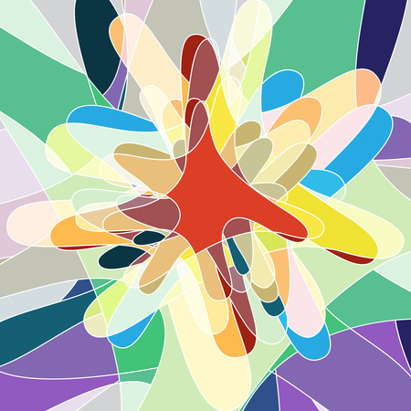 the miracle: abstract flow shape multicolored