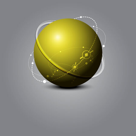 to revolve: abstract sphere science concept