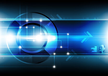 abstract technology networking background Vector