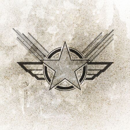 airforce: air force military symbol on grunge background Stock Photo