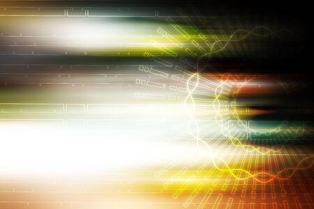 aura: light aura motion technology illustration background Stock Photo