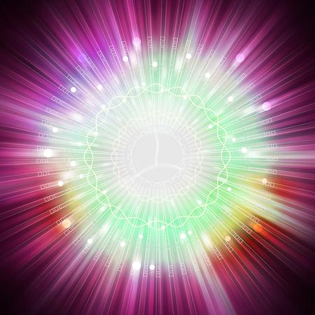 aura energy: star light aura explosion, illustration background Stock Photo