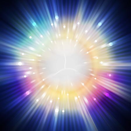 aura energy: star light aura in universe, illustration background Stock Photo