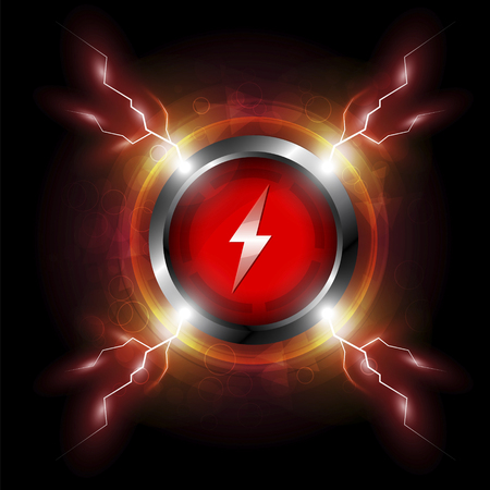 electric spark: energy button with electric spark