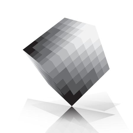 pixelate: 3D cube pixelate style Illustration