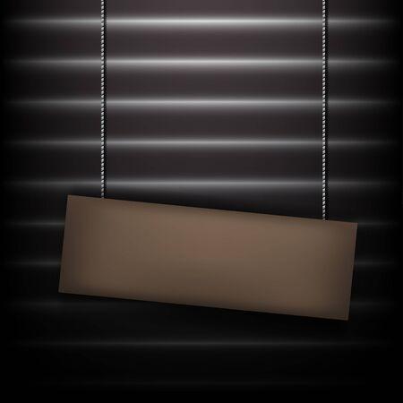 dim: blank sign in the dim light