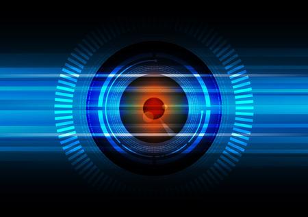 abstract eye: hitech eyeball background