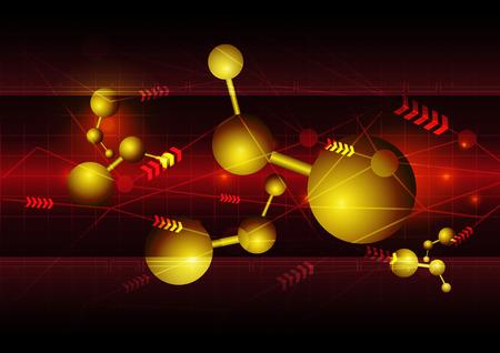 telecoms: science technology background Illustration