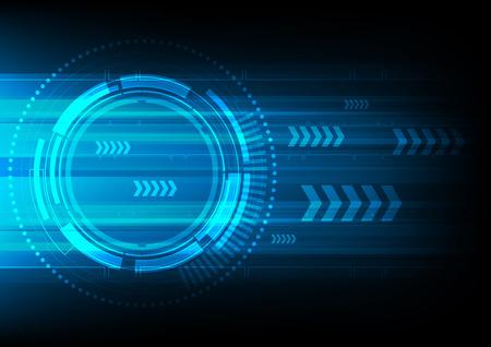 velocidad: círculo tecnología y la flecha fondo