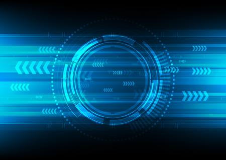 tech cirkel en technologie achtergrond Stock Illustratie
