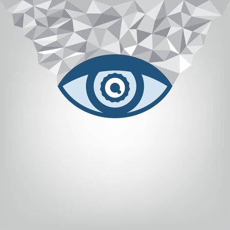 abstract eye: abstract eye and geometry background Illustration