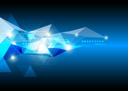 geometria: futuro abstracto de fondo la tecnología Vectores