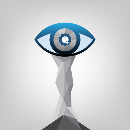 abstract eye: abstract eye trophy design