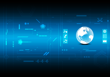 interface design: interface global connection background