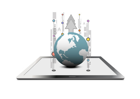 telecoms: vector global communication technology Illustration