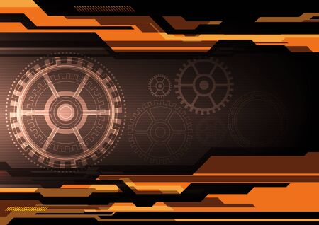 electronic background: vector electronic background, mechanic engineer technology Illustration