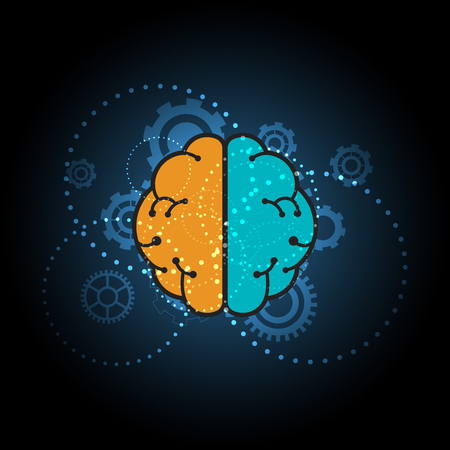 abstract brain sign background, vector illustration
