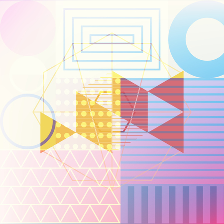abstract background double exposure graphic, geometry vector illustration Çizim