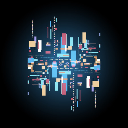 Abstract digital technology background, Vector illustration.