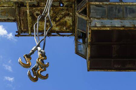 Old crane against the sky. Stock fotó