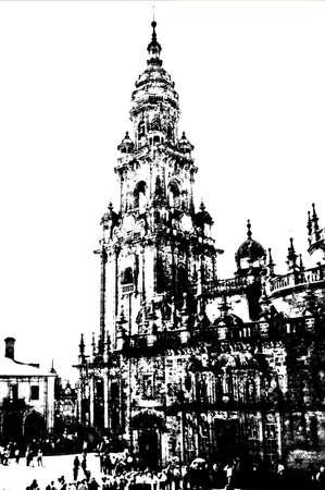 compostela: Berengaria Compostela cathedral tower