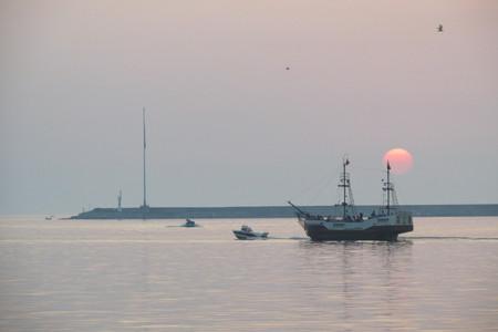 haven en rondvaartboot Stockfoto
