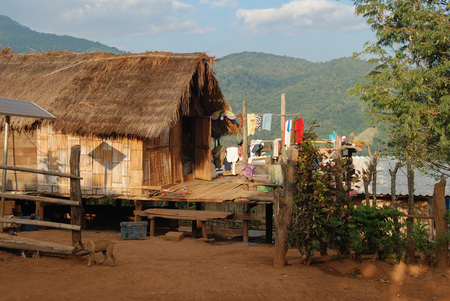 southeast asia: Traditional village in Nothern Thailand, southeast Asia Stock Photo