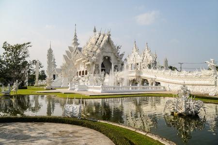 house of god: The beautiful White temple, Chiang Rai, Thailand Stock Photo