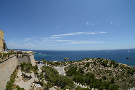 inlet bay: Picturesque views of Balearic Islands in Spain