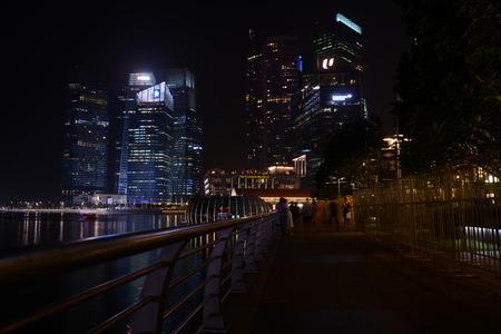 sky scraper: Singapore city center, night, 26.12.2013