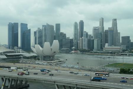 sky scraper: Singapore, funicular view, 28.12.2013