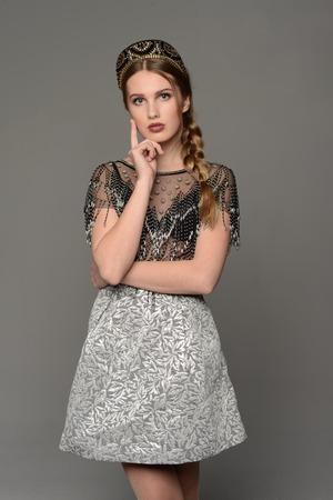 kokoshnik: Young girl in the dress