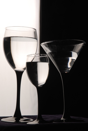 bar ware: Wine glasses are ready for the party