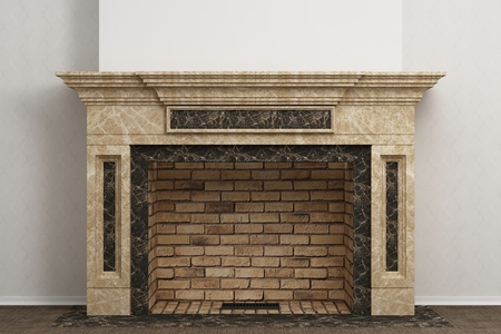 fireplace home: Respectable fireplace in the light home interior