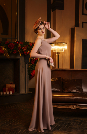 artdeco: Portrait of young woman in art-deco style