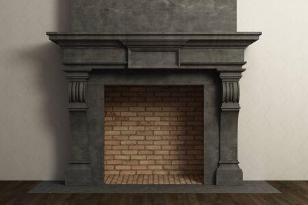 インテリアの暖炉 写真素材