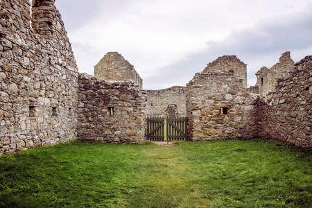 Ruthven Barracks by Ruthven in Badenoch, Scotland in Europe UK. Built in 1719.