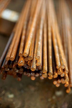 reinforcement: construction steel reinforcement Stock Photo